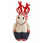 Crochet Red Reindeer by Anne Claire Petit