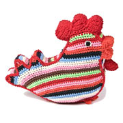 Large Crochet Chicken Squeaker Toy by Anne Claire Petit