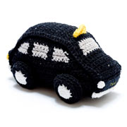 Crochet Black Taxi Cab