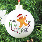 Personalised Happy Holidays Bauble Exclusive