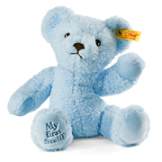Blue My First Steiff Teddy Bear