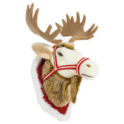 Fabric Hanging Reindeer Head - Large