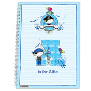 Personalised Pirate A5 Notebook
