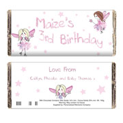 Personalised Fairy Chocolate Bar - Free Delivery