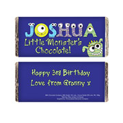 Personalised Little Monster Chocolate Bar - Free Delivery
