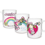 Personalised Ceramic Bang on the Door Groovy Chick Mug
