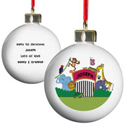 Personalised Ceramic Zoo Bauble