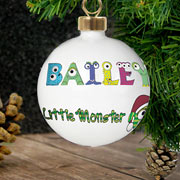 Personalised Ceramic Little Monster Bauble