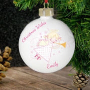Personalised Ceramic Angel Bauble
