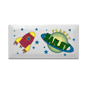 Personalised Ceramic Space Door Plaque