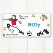 Personalised Ceramic Football Crazy Door Plaque