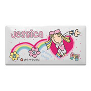 Personalised Ceramic Groovy Chick Door Plaque