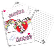 Personalised Groovy Chick A5 Notebook
