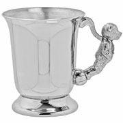 Child's Pewter Teddy Cup