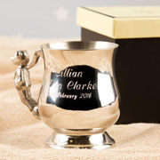Child's Personalised Engraved Pewter Georgian Teddy Cup