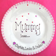 Personalised China Mother's Day Plate