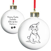 Personalised Bunny Bauble For Easter Or Christmas