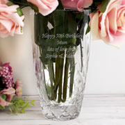 Personalised Oval Cut Crystal Vase
