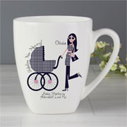 Personalised Fabulous New Mummy Latte Mug