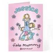 Personalised Bang on the Door Fab Mum Card Free Delivery