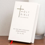 White Personalised Bible - King James Version