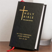 Black Personalised Bible - King James Version