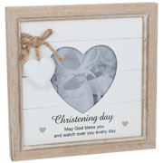 Provence Message Heart Christening Frame