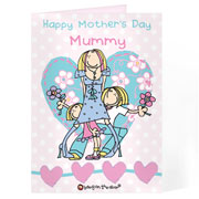 Personalised Bang On The Door Female Card Free Delivery