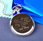 Personalised Engraved Holy Communion Pocket Watch & Chain