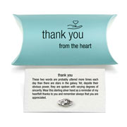 Silver Thank You Keepsake Pin by Tales From The Earth