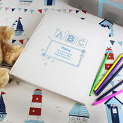 Personalised Blue ABC Traditional Photo Album