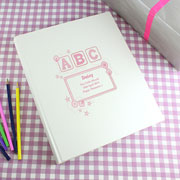 Personalised Pink ABC Traditional Photo Album