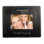 Personalised I Love You Slate Landscape Photo Frame