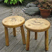 Child's Personalised Hardwood Stool