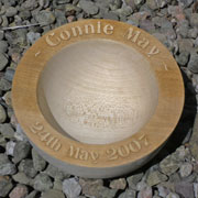 Personalised Baby/Christening Sycamore Bowl