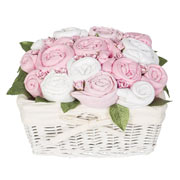 Country Garden Basket Pink Baby Girl