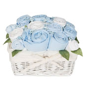 Country Garden Basket Baby Boy Blue