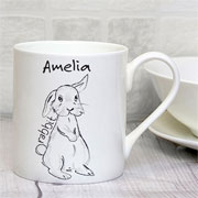 Personalised 'Scribble' Bunny Mug - Exclusive