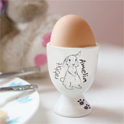 Personalised 'Scribble' Bunny Egg Cup - Exclusive