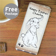 Personalised 'Scribble' Bunny Chocolate Bar - Free Delivery