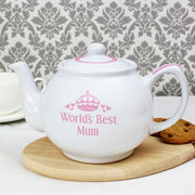 Pink World's Best Personalised China Teapot