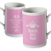 Personalised Pink Worlds Best Mug