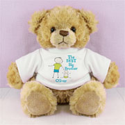 Personalised Best Big Brother Teddy Bear - Exclusive
