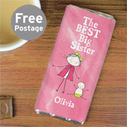 Personalised Best Big Sister Chocolate Bar - Exclusive