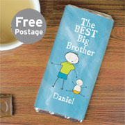 Personalised Best Big Brother Chocolate Bar - Exclusive