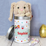Bunny in Personalised Easter Tin