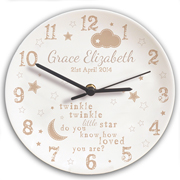 Personalised Twinkle Twinkle Clock