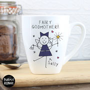 Personalised Purple Ronnie Fairy Godmother Latte Mug