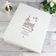 Personalised Whimsical Church Album with Sleeves - Pink