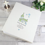 Personalised Whimsical Church Album with Sleeves - Blue